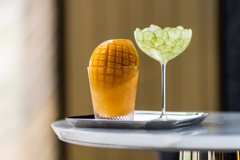 The Mango and the Cucumber cocktails at <em>The Pool Lounge</em>