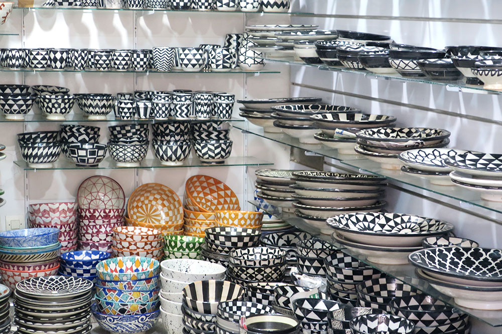 Ceramics from Zahra Shop at Souk Cherifia