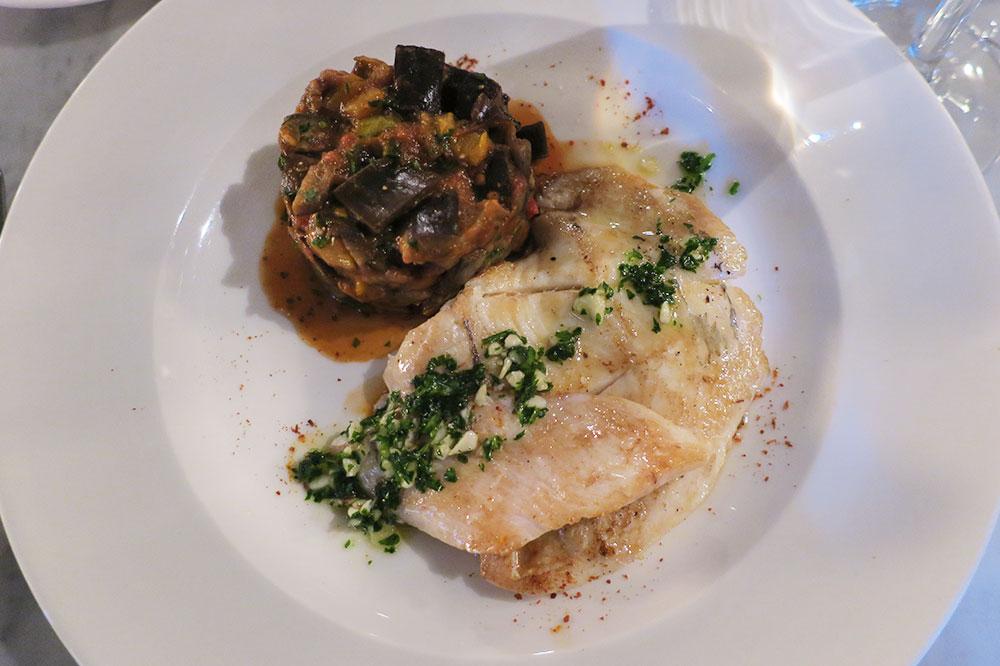 Grilled John Dory with garlic-parsley butter and ratatouille from <em>Le Grand Café de la Poste</em>