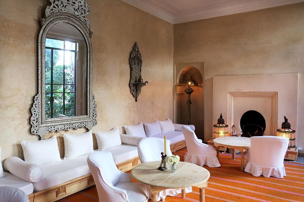 The main lounge at L'Hôtel Marrakech