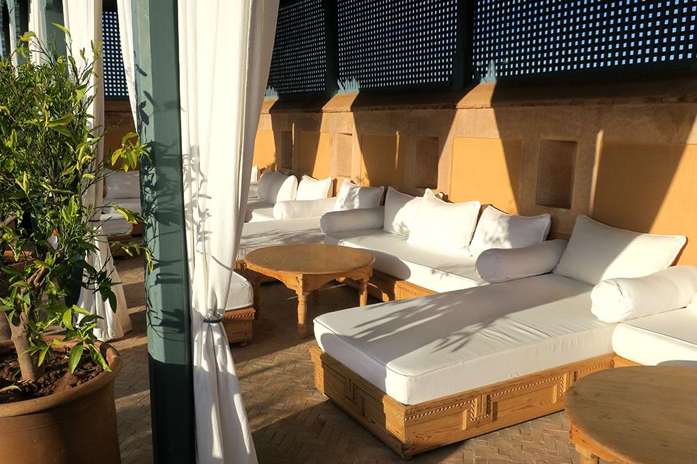 The roof terrace at L'Hôtel Marrakech