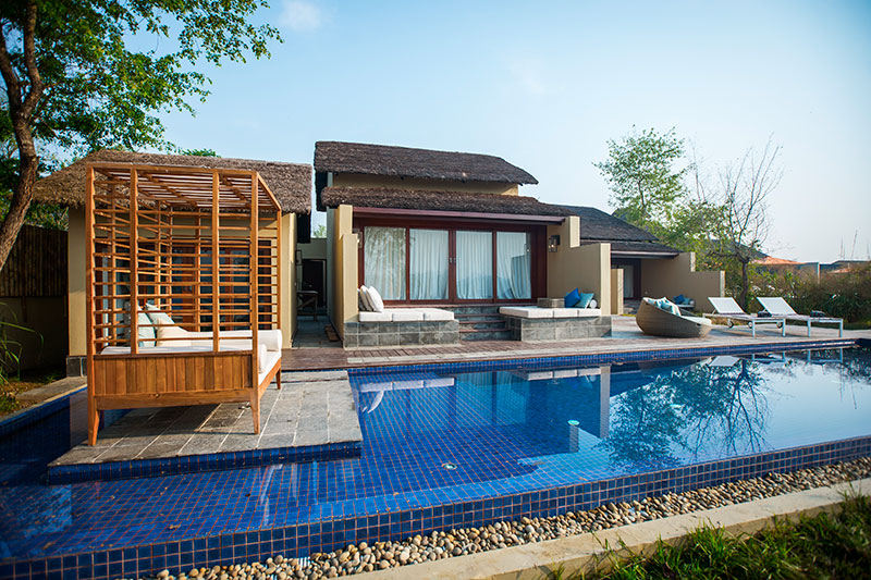Villa with private pool at Meghauli Serai, Nepal - © Taj Hotels Resorts and Palaces