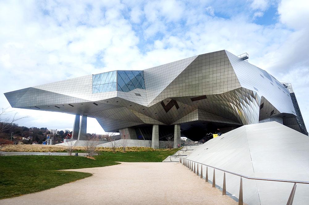 The exterior of the Musée des Confluences
