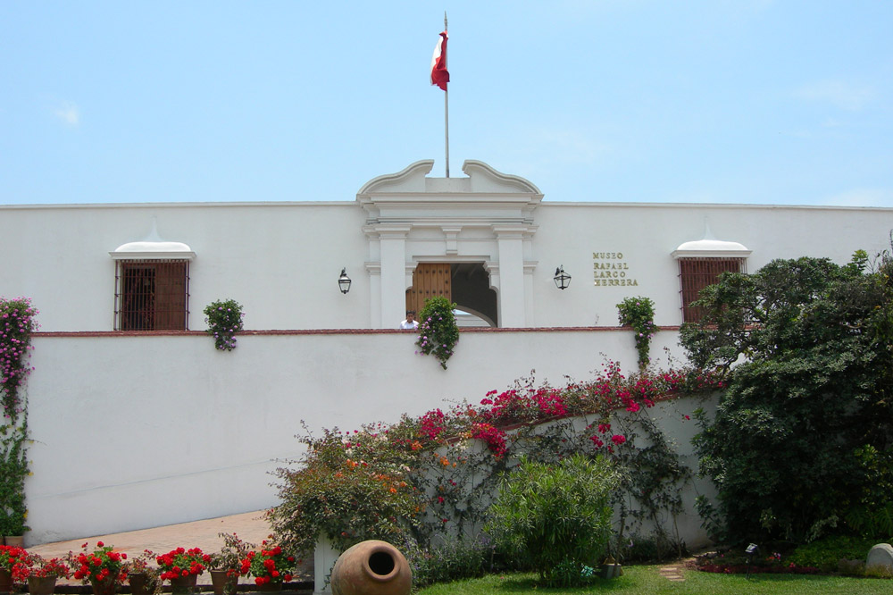 The exterior of Museo Larco in Lima, Peru