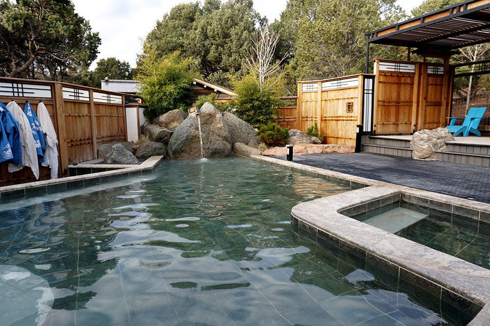 The Grand Bath communal spa tub at Ten Thousand Waves