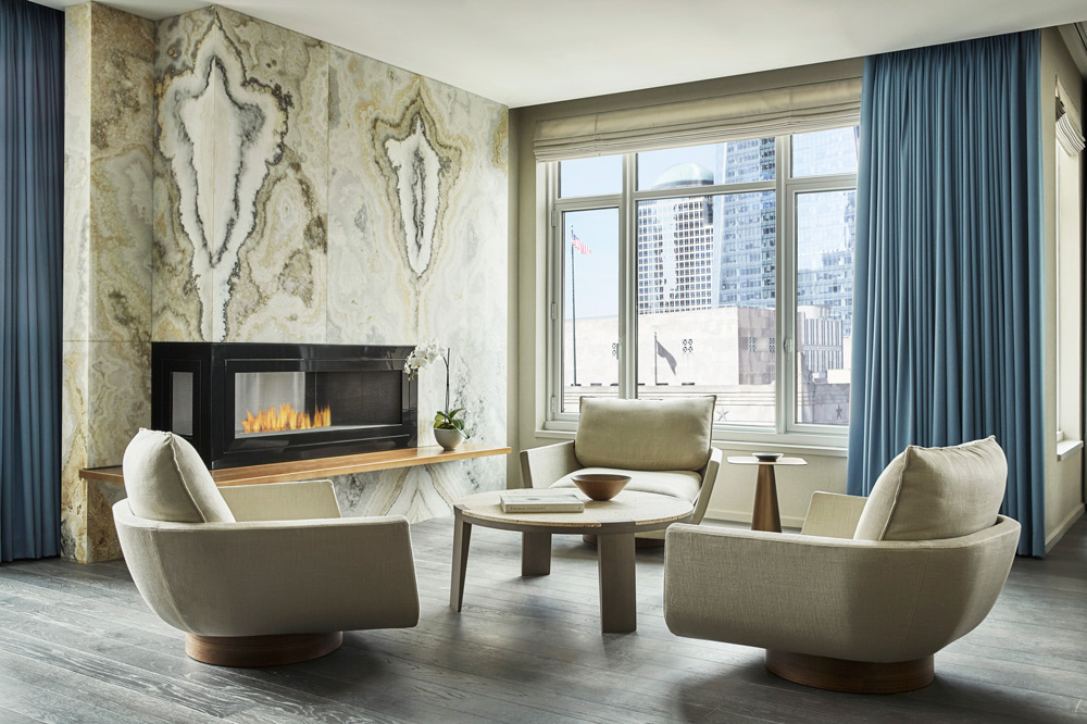 Living room at the New York Four Seasons Private Residences - Christian Horan Photography