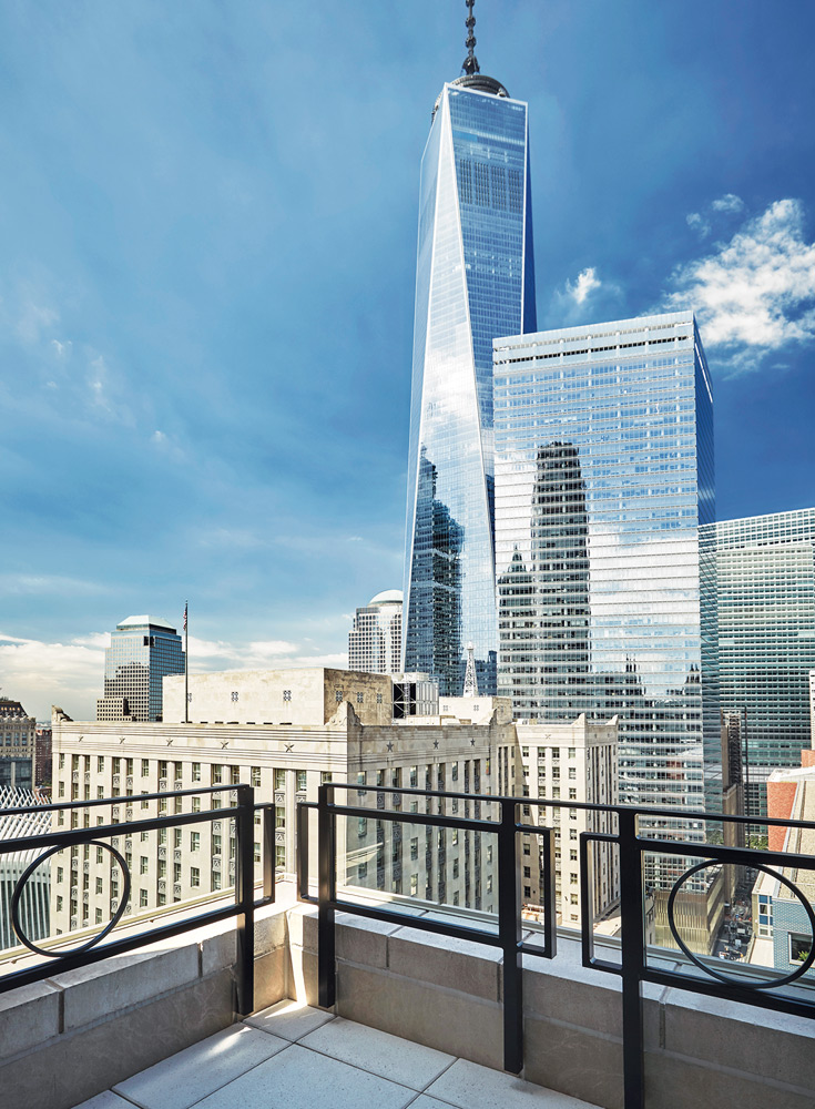 Terrace view from the New York Four Seasons Downtown - Christian Horan Photography