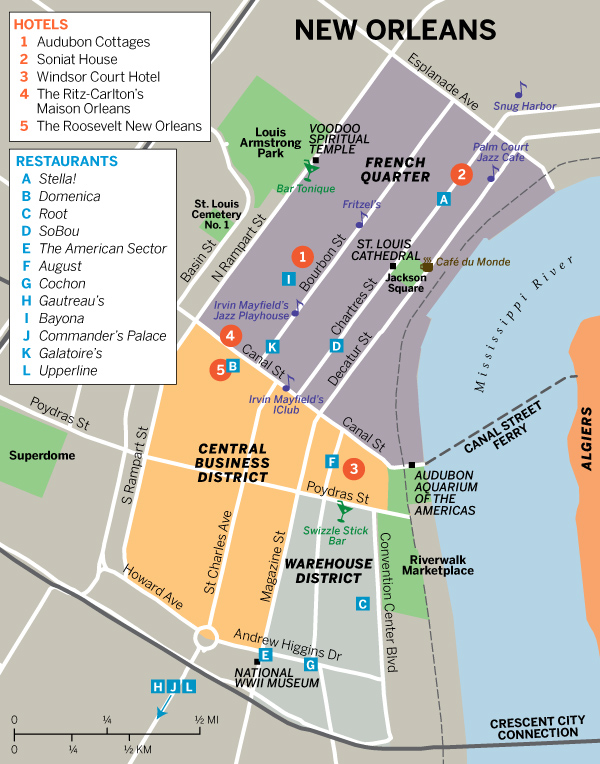 New Orleans Hotel Map
