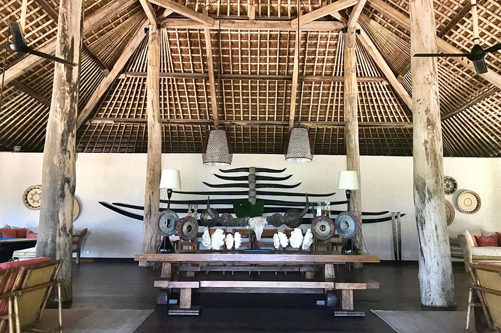 The lobby at Nihi Sumba