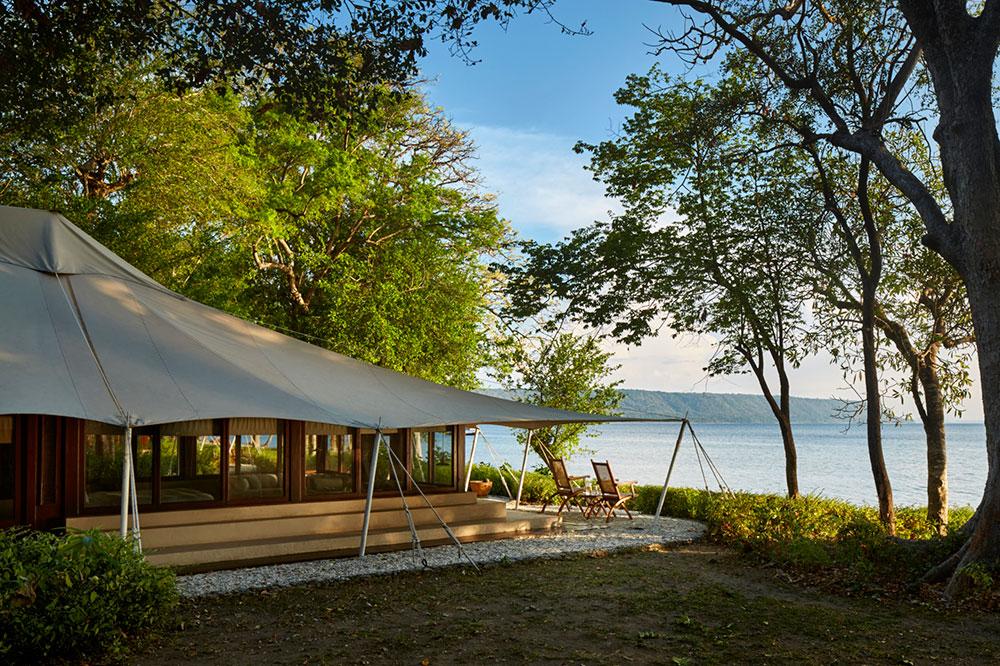 An Ocean Tent at Amanwana