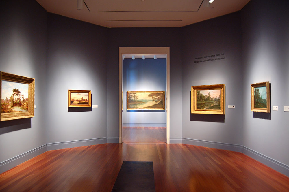 An exhibit of paintings of Louisiana landscapes from the Roger Houston Ogden Collection at the Ogden Museum of Southern Art