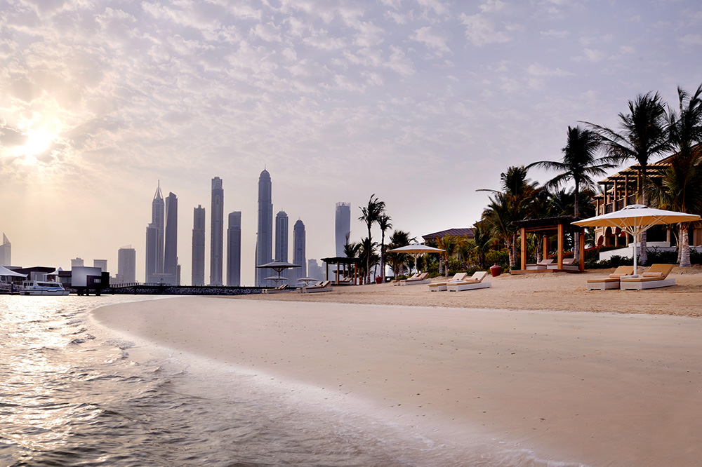 The beach at the One & Only The Palm in Dubai, UAE
