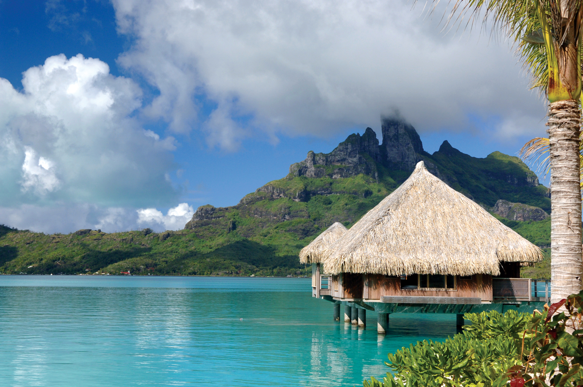 Stunning overwater bungalows for Honeymoon huts over water