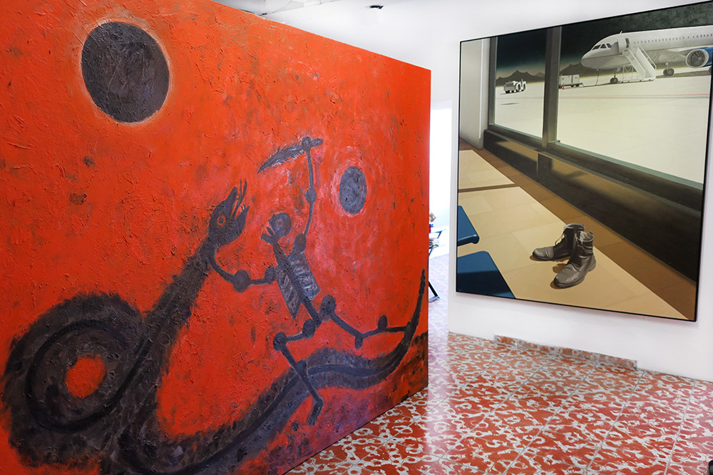 Paintings by Fulvio Leoncini and Samuel Meléndrez at the Patricia Mendoza Art Gallery