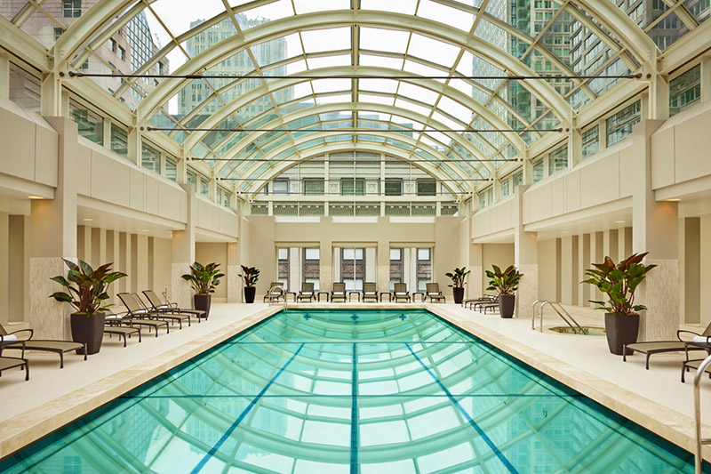 Indoor pool at the Palace Hotel - © Jason Dewey