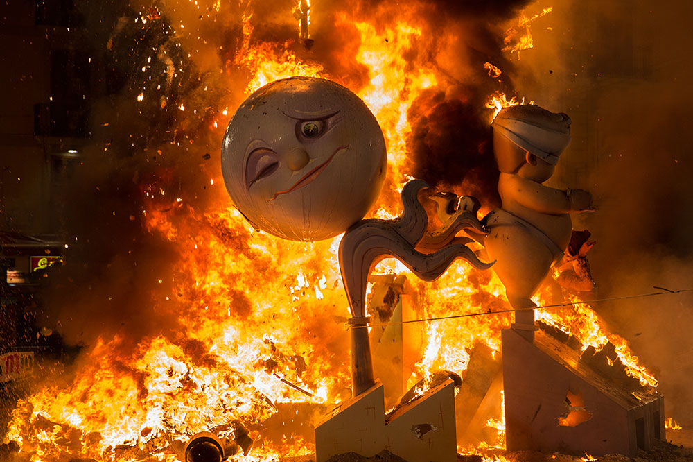 Las Fallas Festival Burning