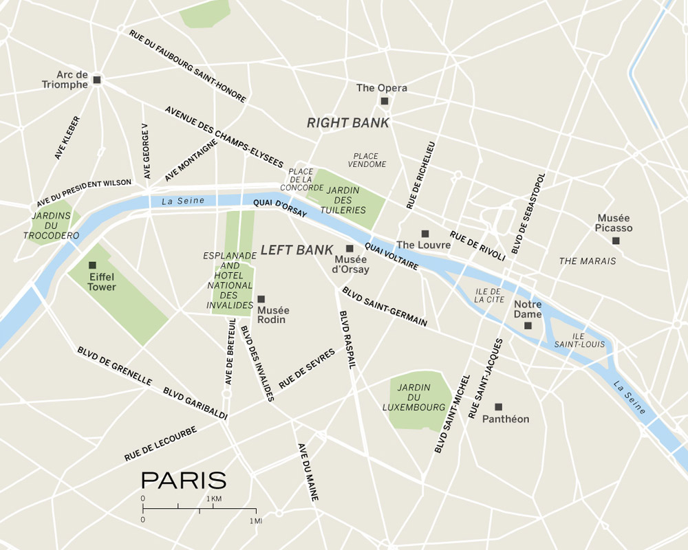 Paris City Guide Where To Stay Eat And Sightsee - Paris road map