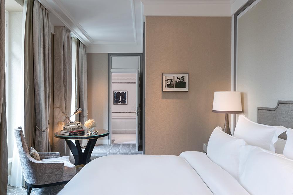 A Deluxe Room at Hôtel de Crillon in Paris, France