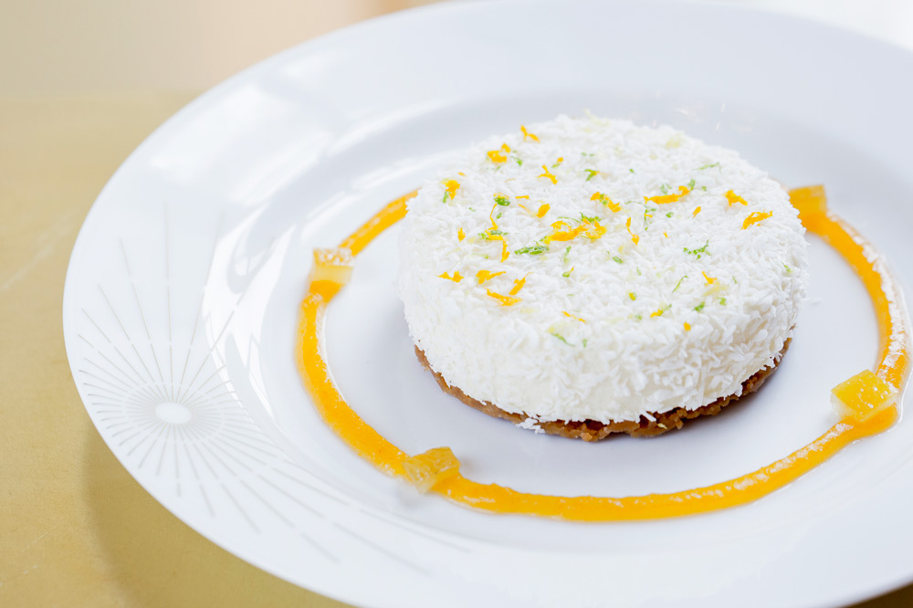 White cheese with citrus candy at <em>ore</em>