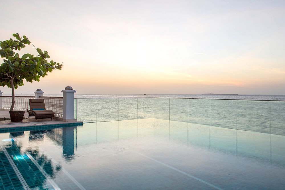 The pool with an ocean view at Park Hyatt Zanzibar in Zanzibar, Tanzania