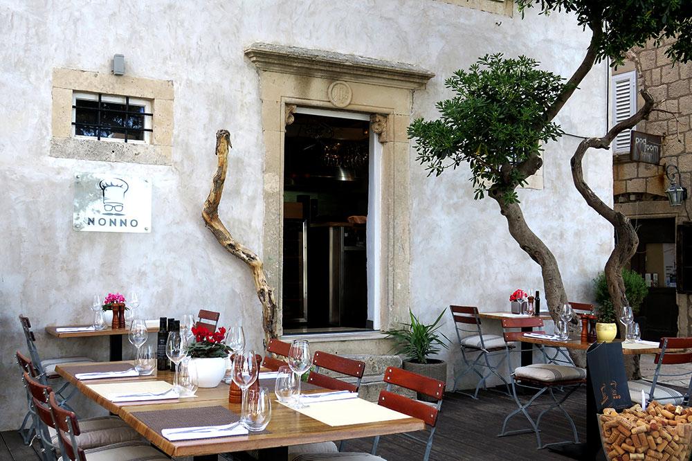 The patio of <em>Nonno</em> in Korčula, Croatia