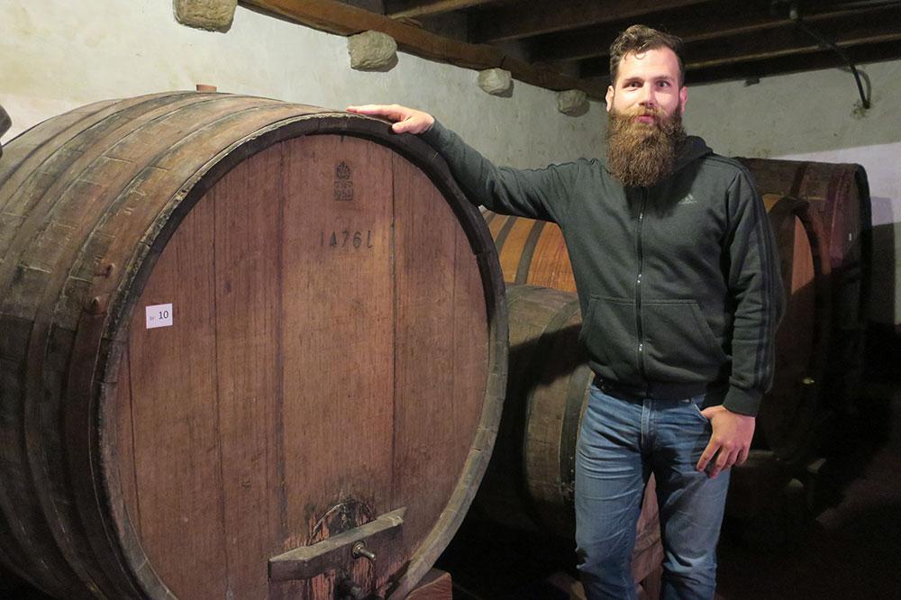 Winemaker Ivan Miloš at Vinarija Miloš on the Pelješac Peninsula