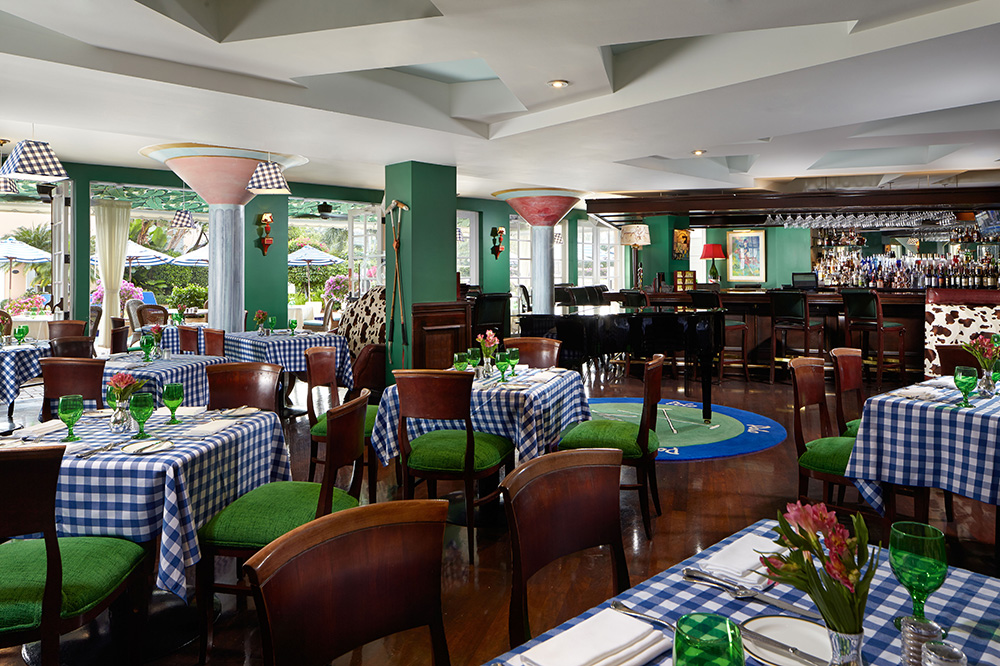 The interior of <em>Polo</em>, the restaurant at The Colony hotel, in Palm Beach, Florida