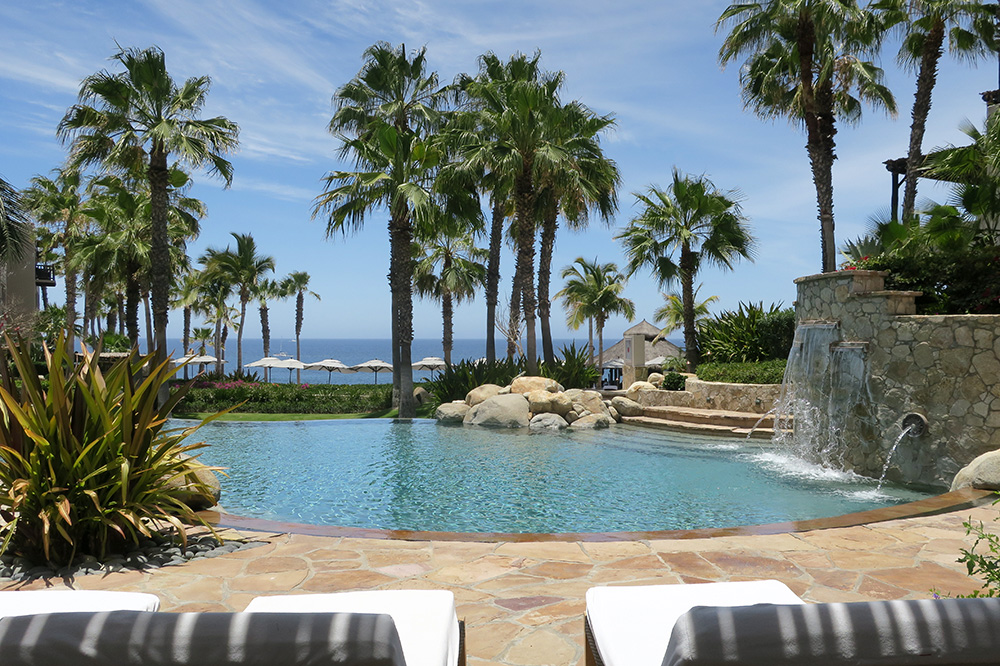 The pool in the villa section of Esperanza in Los Cabos, Mexico