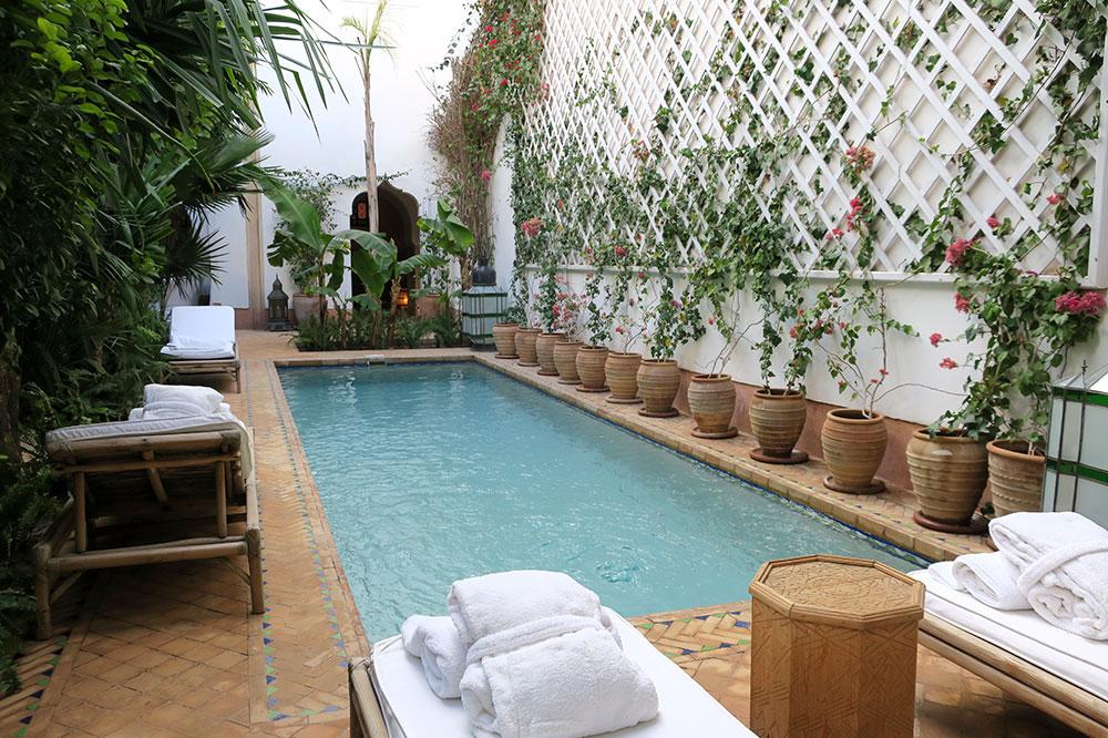 The pool at L'Hôtel Marrakech
