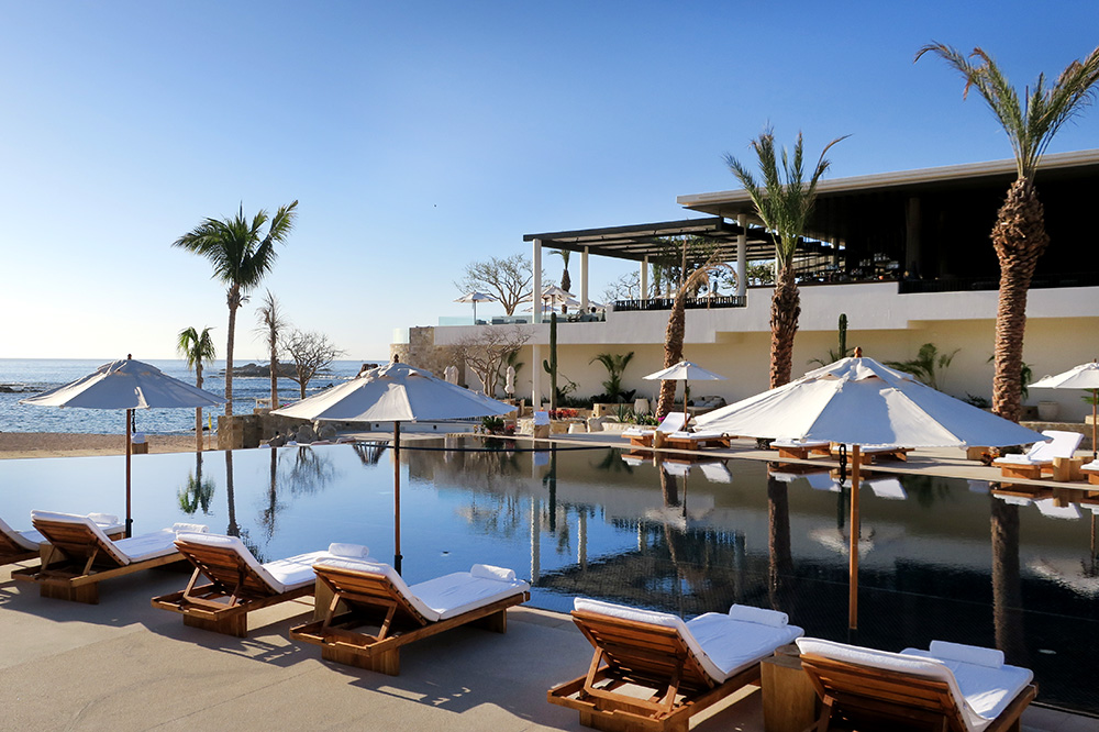 The pool at Chileno Bay Resort in Los Cabos, Mexico - Photo by Andrew Harper