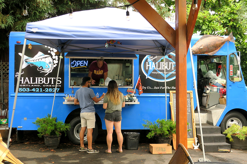 <em>The Original Halibuts</em> food truck in Portland, Oregon