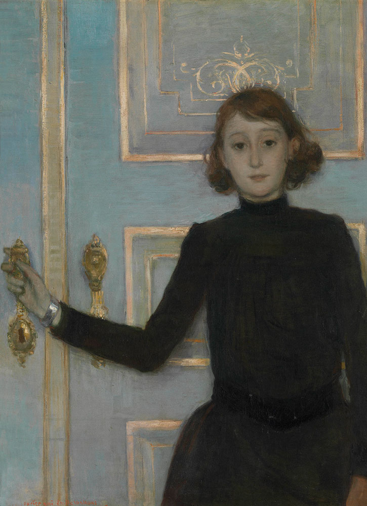 """""""Portrait of Marguerite van Mons,"""" by Théo van Rysselberghe, from the Museum of Fine Arts Ghent"""