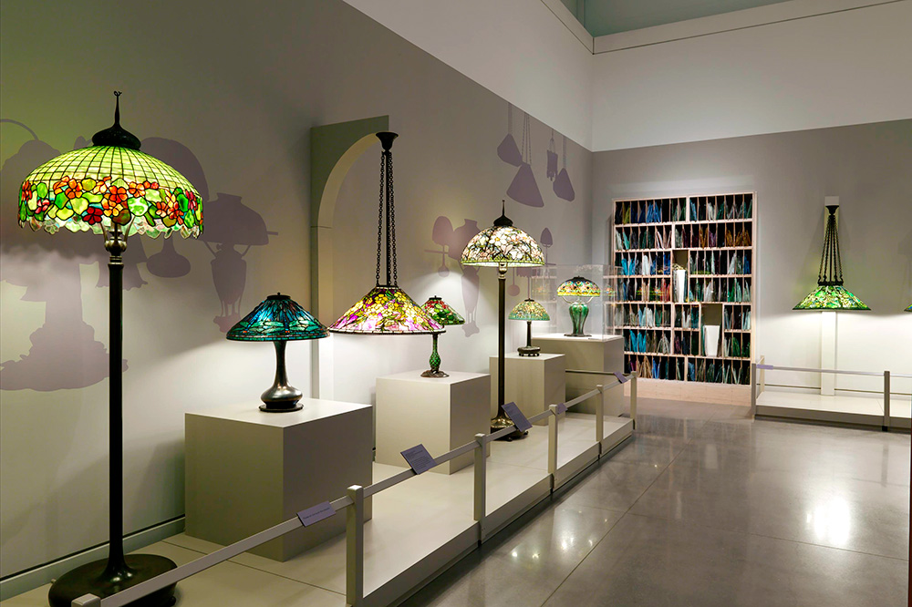 <em>A Passion For Tiffany Lamps</em> exhibition at The Neustadt Gallery in the Queens Museum