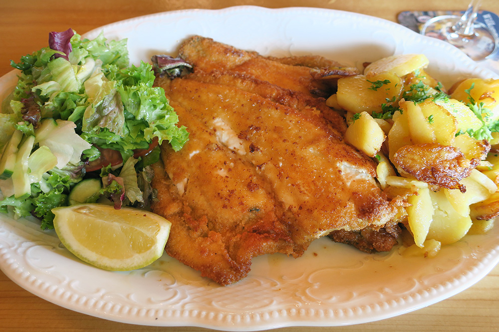 Turbot with roasted potatoes from <em>Restaurant Klabautermann</em> in Lippe, Germany - Photo by Andrew Harper