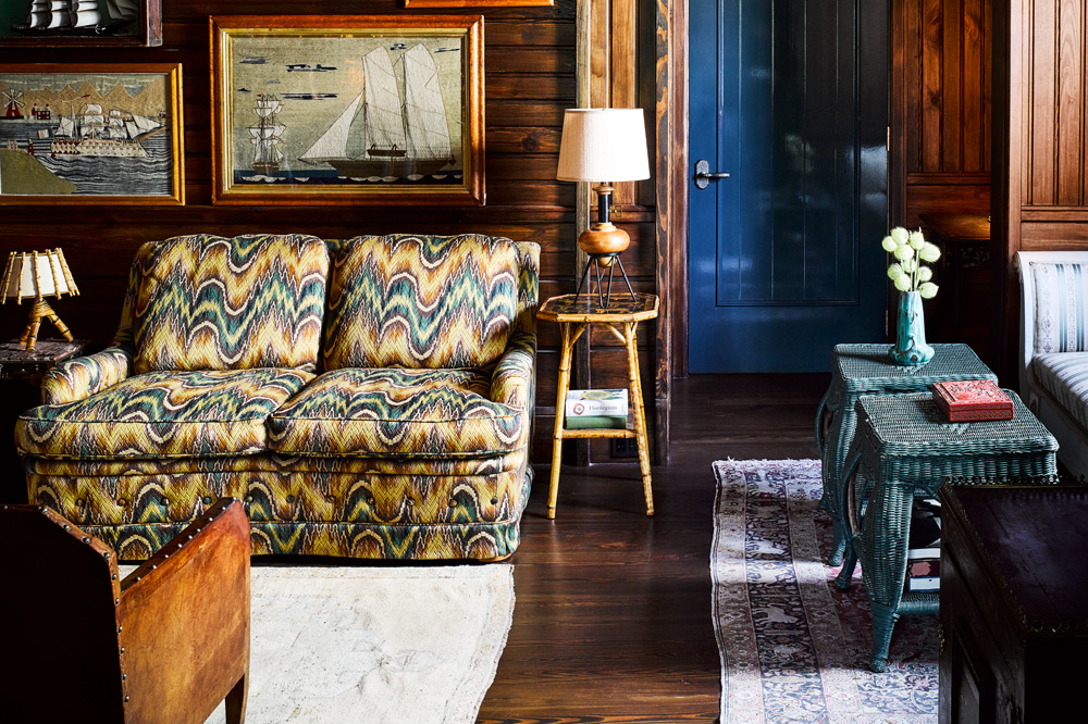 The dark wood and nautical theme of Greydon House