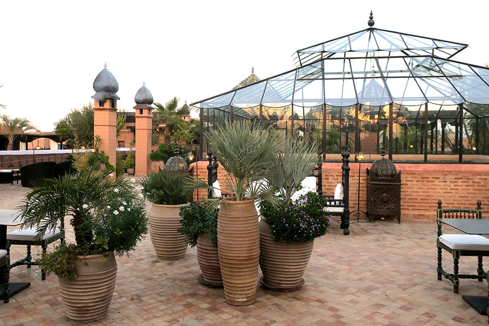The roof terrace at La Sultana Marrakech