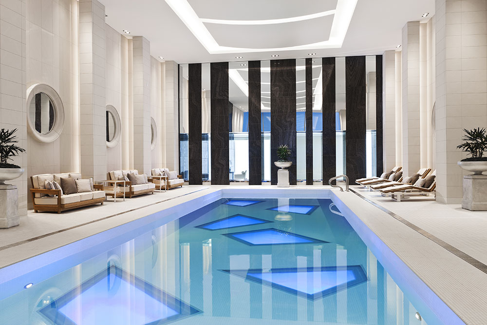 Indoor pool at Rosewood Hotel Georgia