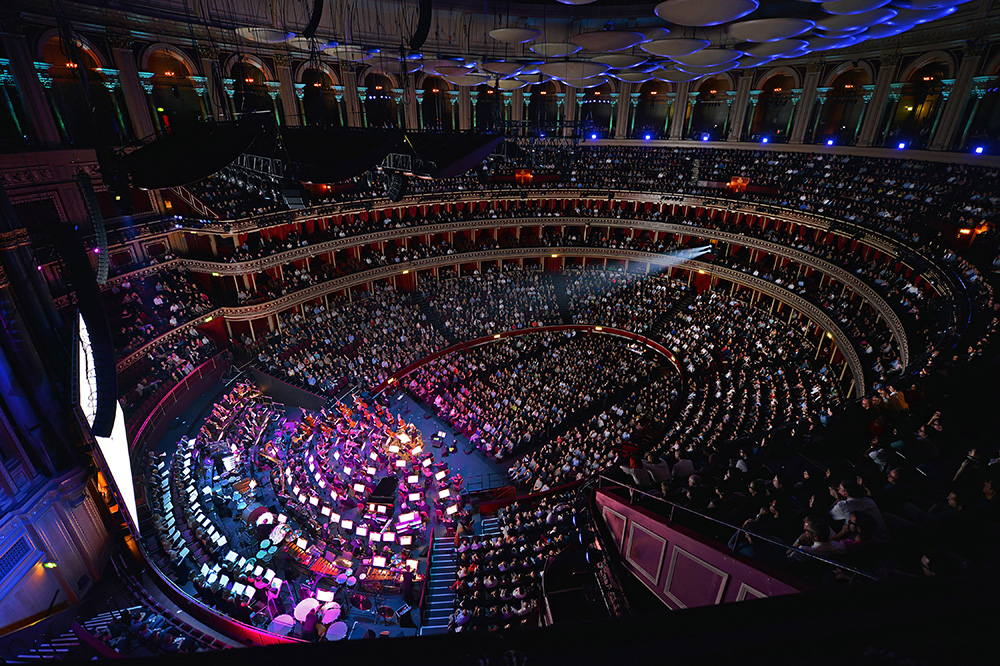 """Danny Elfman's """"Music From the Films of Tim Burton"""" being performed inside Royal Albert Hall"""
