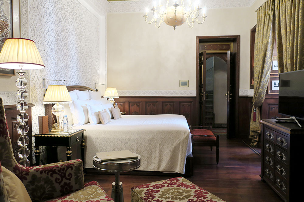 The bedroom of our Premier Riad at Royal Mansour in Marrakech, Morocco
