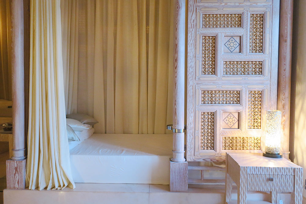 The relaxation room of the spa at Royal Mansour