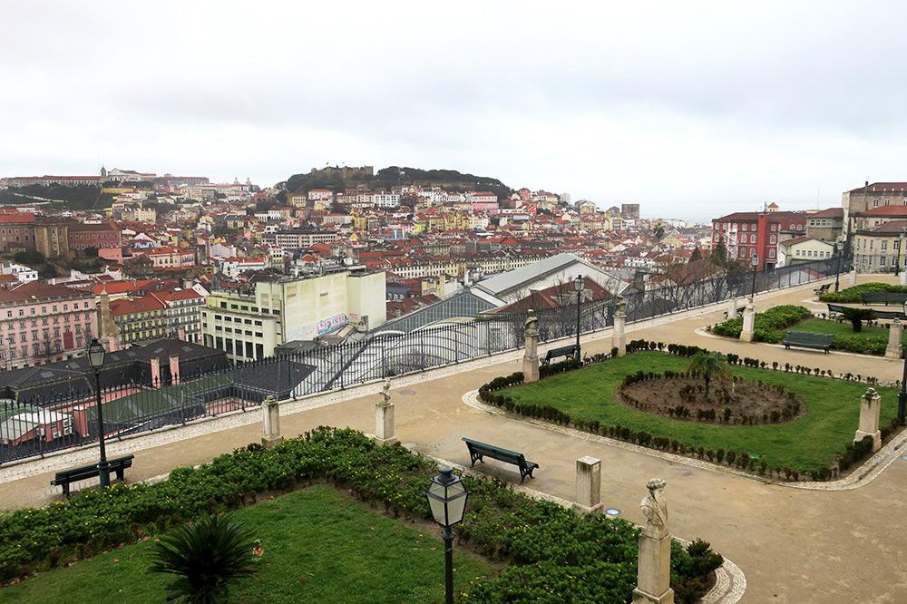 The view from São Pedro de Alcântara in Lisbon