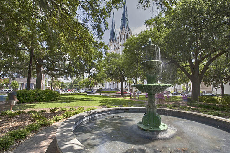 Lafayette Square in Savannah, Georgia.