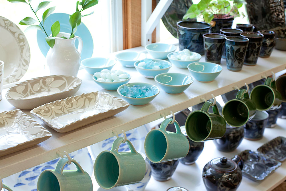 Collection of cups, bowls, plates and teapots at Shackleton Thomas