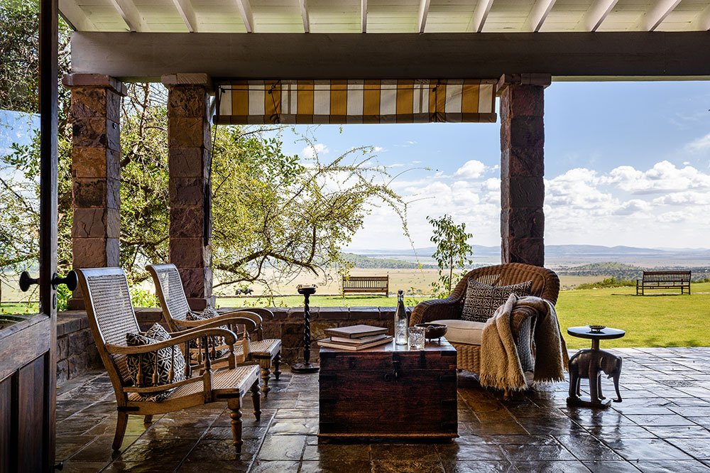 The patio of Singita Sasakwa in Singita Grumeti Reserves, Tanzania
