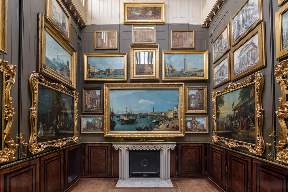 The Picture Room inside Sir John Soane's Museum