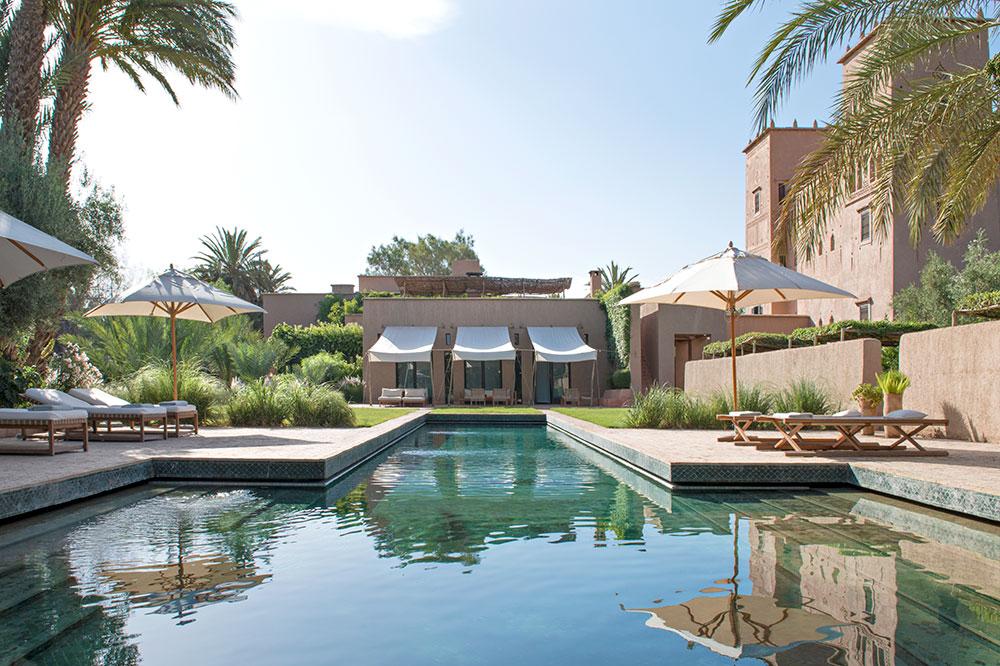 The pool at Dar Ahlam in Skoura, Morocco