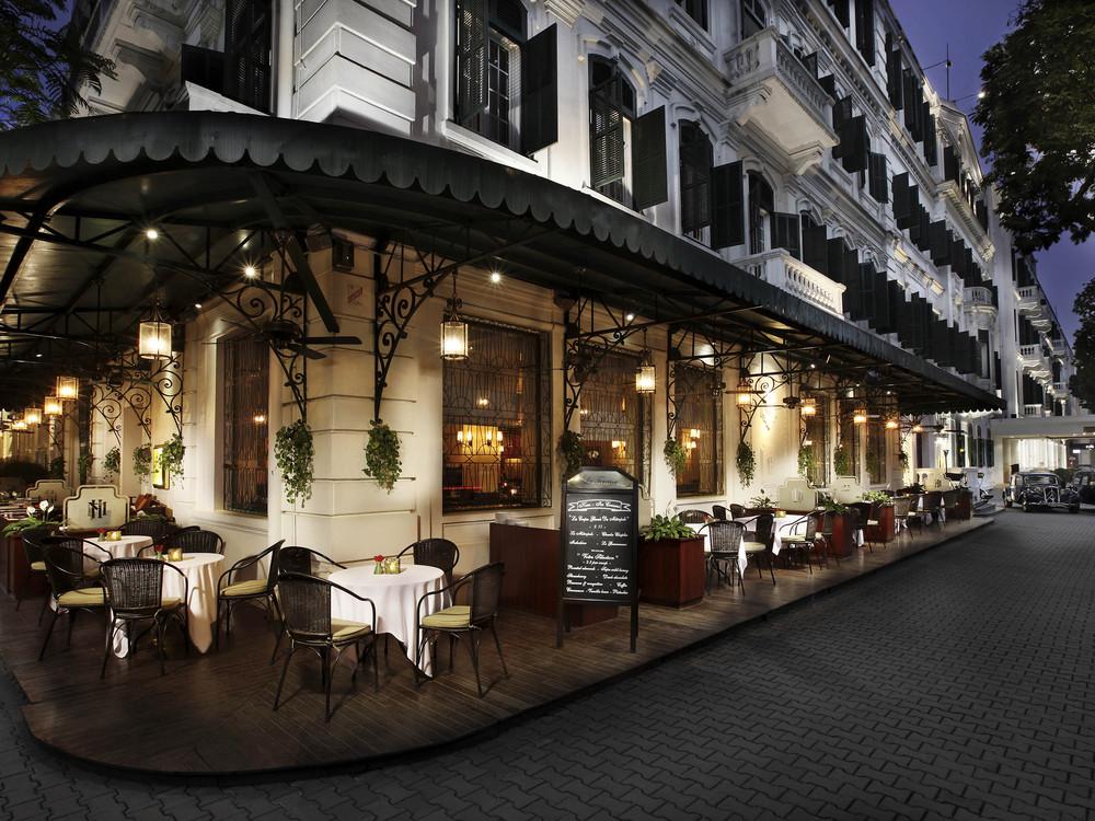 The Parisian-style La Terrasse café at the Sofitel Legend Metropole Hanoi