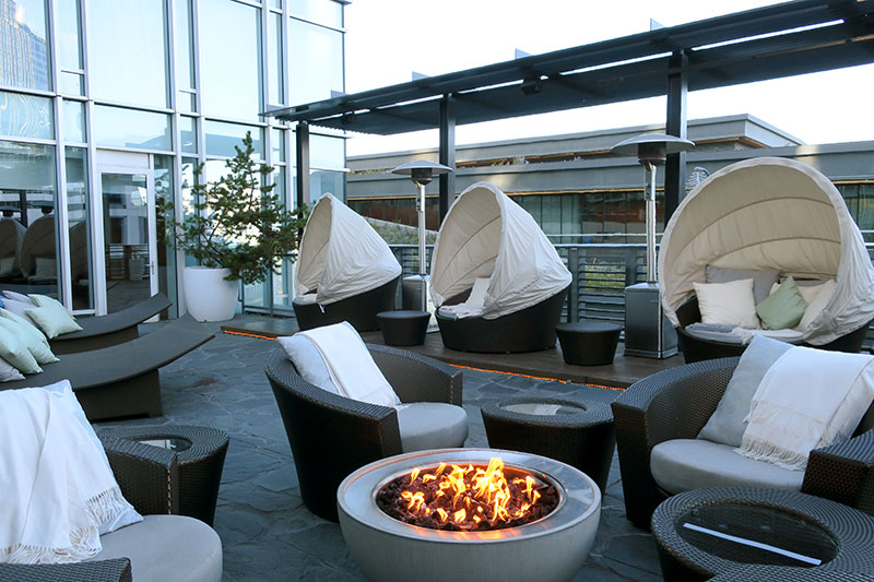 Spa terrace at Fairmont Pacific Rim