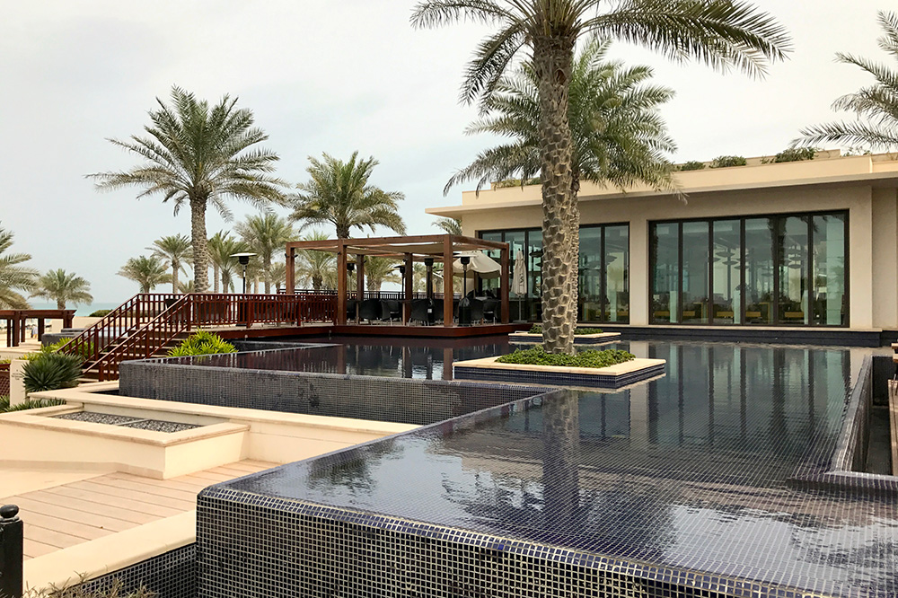 The grounds of St. Regis Saadiyat Island Resort on Saadiyat Island, UAE