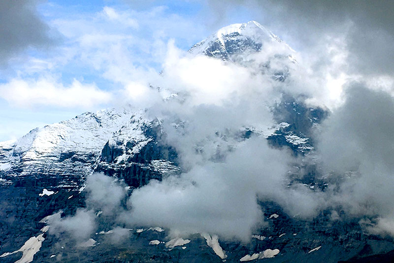 The notorious north face of the Eiger, from Männlichen